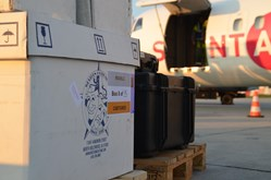 Film production on location air cargo